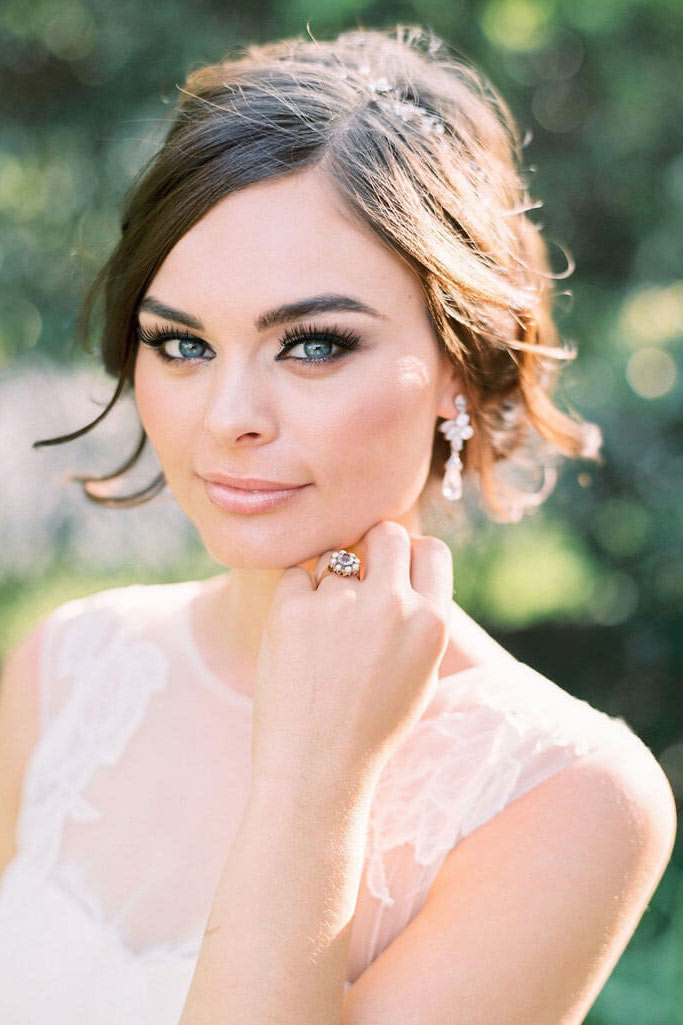 Wedding makeup + wedding hair stylist
